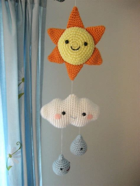 download pattern for mobile amigurumi crochet happy weather mobile pattern digital