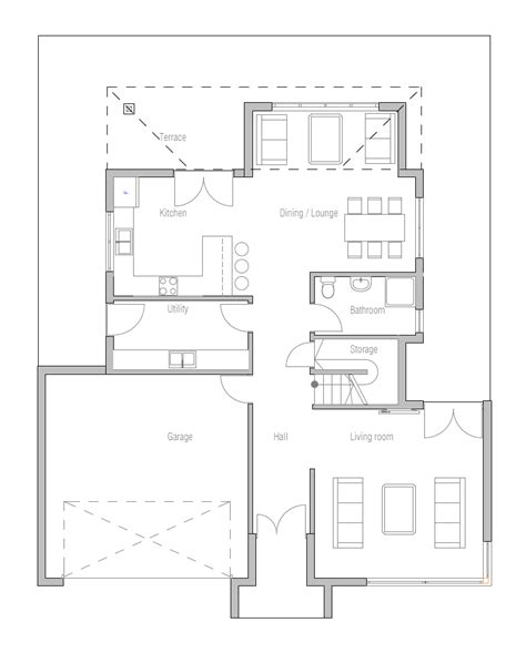 affordable floor plans affordable home plans modern affordable home plan ch236