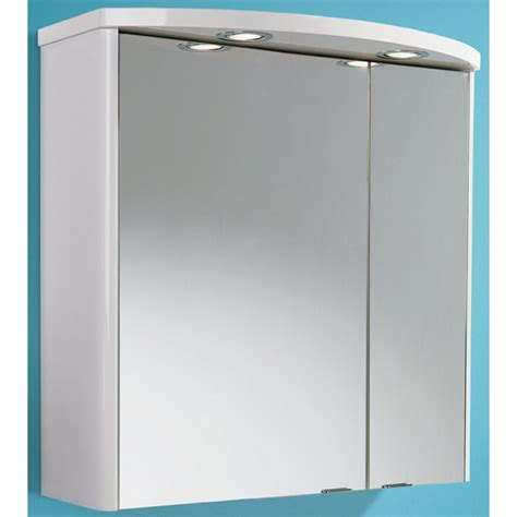 Vanity Units Wall Hung Ambiente Illuminated Cabinet Gloss White Mirror Cabinets