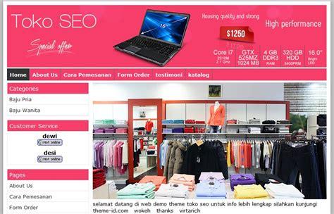 template web toko online responsive jum atan 6 template toko online toko seo theme id gratis