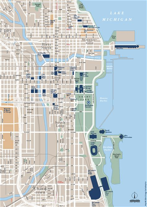 Chicago Streets Map by Map Of Downtown Chicago World Map Photos And Images