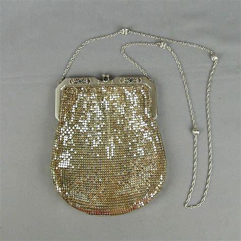Whiting Davis Classic Shirred Satchel In Silver by Vintage Whiting Davis Silver Tone Mesh Handbag Purse