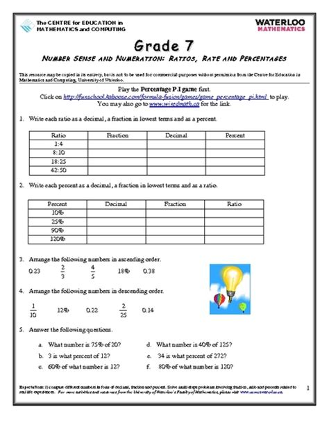Rates Worksheet 6th Grade by Math Worksheets For 6th Grade Ratios 6th Grade Math