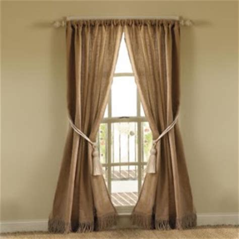 ballard design curtains burlap gingham pearls