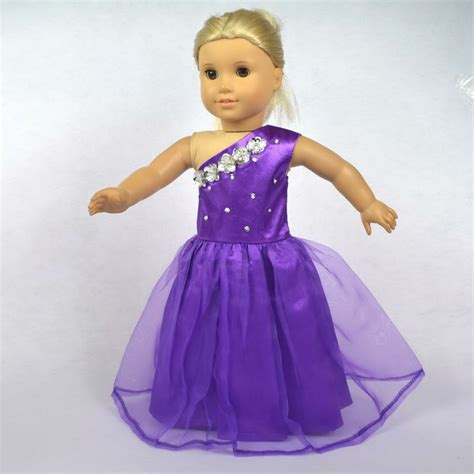 Where Can I Buy An American Girl Gift Card - doll clothes fits 18 american girl dolls doll dress purple party dress girl birthday