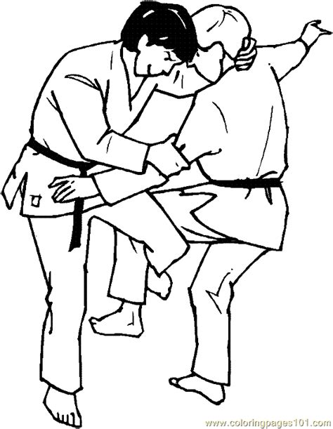 coloring pages karate printable boxing judo karate coloring page 20