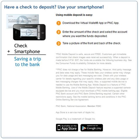 bank mobile deposit pnc bank account sign in images