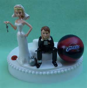 wedding cake topper cleveland cavaliers cavs basketball themed