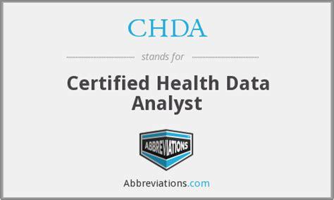 Certified Health Data Analyst chda certified health data analyst