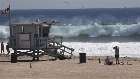 sigalert malibu westerly swell pounds los angeles area beaches on sunday