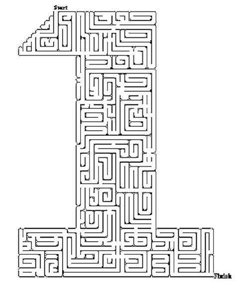 printable number maze printable mazes for kids