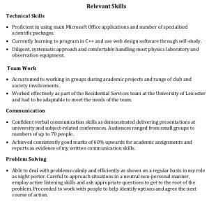 exle cv key skills how to write a great cv get a better job 11 step checklist
