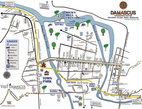 show me a map of virginia visit damascus virginia