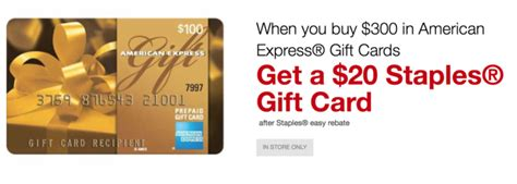 Amex Gift Card Purchase - staples get 20 with american express gift card purchase points miles martinis