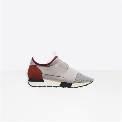 balenciaga race runners in gray lyst