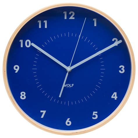houzz clocks 12 quot wall clock blue contemporary wall clocks by wolf