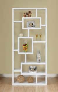 modern white bookcase design with open backthe best furnitures