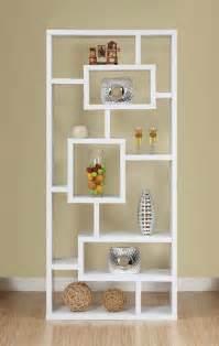 White Modern Bookshelves Modern White Bookcase Design With Open Backthe Best Furnitures