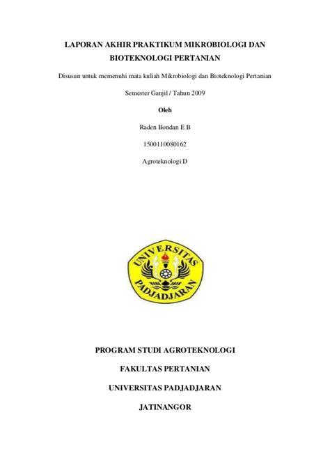 cara membuat laporan praktikum kimia sma makalah 65 laporan akhir praktikum mikrobiologi