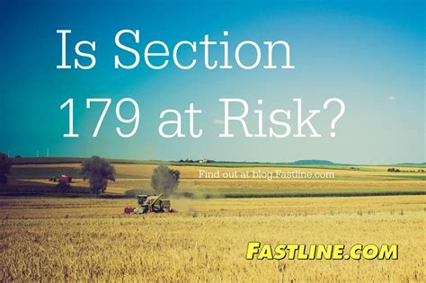 Section 179 Extension by Tractors Fastline Front Page