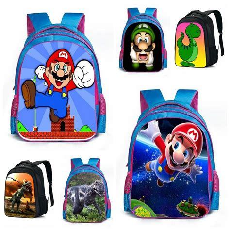 Supersale Kidsbag mario bros dinosaur school bags animal schoolbag boys fashion print children