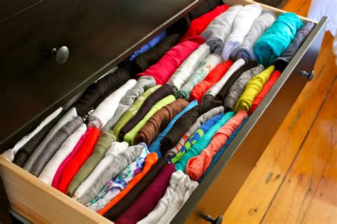 How To Organize Clothes Without A Dresser | organized dresser drawers