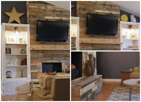 Pallet Wall Fireplace by Top 10 Projects In The Diy Contest Risenmay