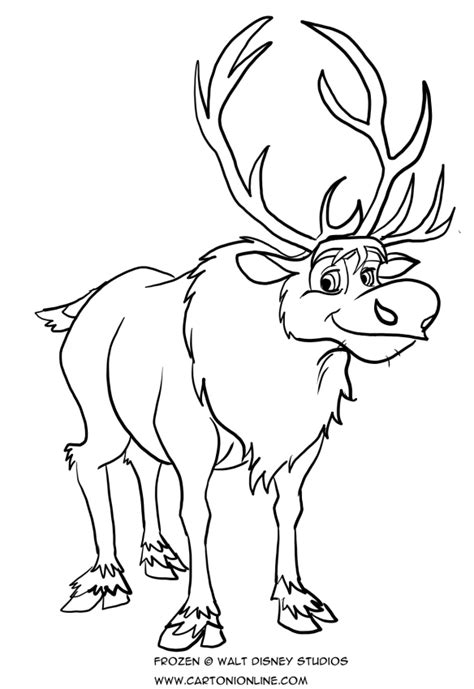coloring pages frozen sven sven pages coloring pages