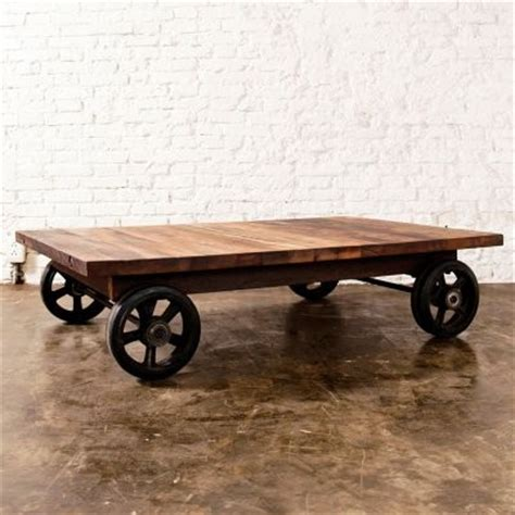 Wood Coffee Table With Wheels Nuevo V33 Rectangle Reclaimed Wood Coffee Table With Wheels Modern Coffee Tables By Hayneedle