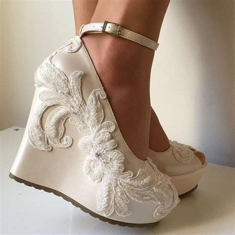 wedding wedding wedge shoes bridal wedge shoes bridal