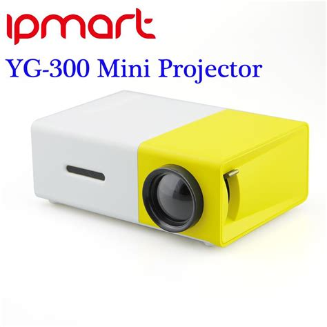 Lu Led Projector Mobil newest yg300 portable led projector cinema theater pc laptop usb sd av hdmi input mini pocket
