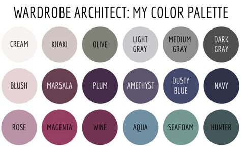 what is my color palette wardrobe architect my color palette baste gather
