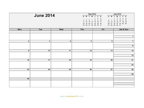 June 2014 Calendar Template by June 2014 Calendar Blank Printable Calendar Template In