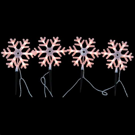 home christmas light stakes home accents holiday 10 in 48 light snowflake pathway