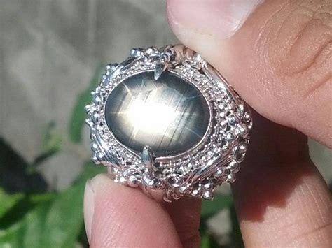Cincin Batu Nilam Hitam koleksi pusaka alam cincin antik nilam hitam 12 asli