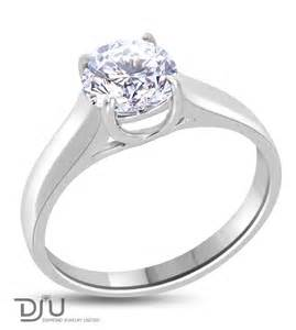Rings round 1 carat e vs2 round solitaire diamond engagement ring