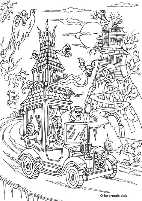 Best 25 Halloween Colouring Pages Ideas On Pinterest Where To Buy Horror Coloring Books