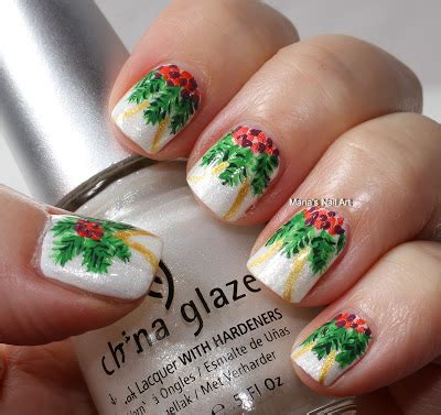christmas decorated finger nails marias nail and decorations