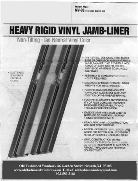 Window Sill Liner Hung Window Hung Window Replacement Jamb Liners