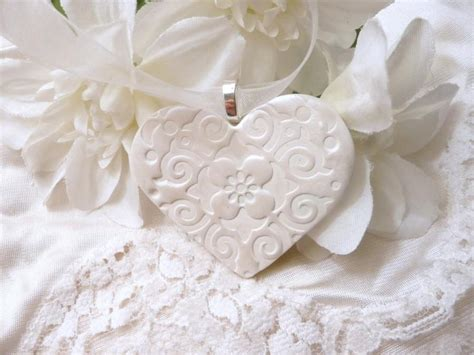 Wedding Bouquet Ornament by Wedding Bouquet Charm Handmade White Keepsake