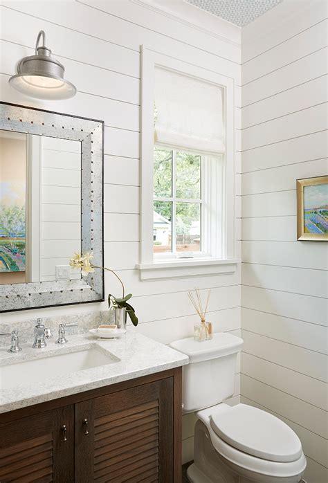 Shiplap Painted White Bathroom Ideas