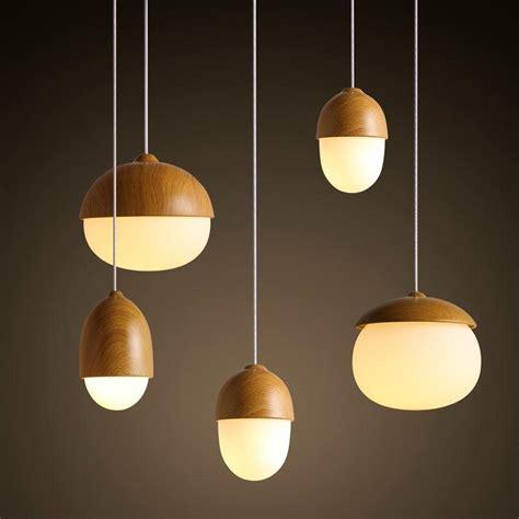 Wholesale Pendant Lights Modern Nodic Wood Acrylic Pendant L Suspension Light