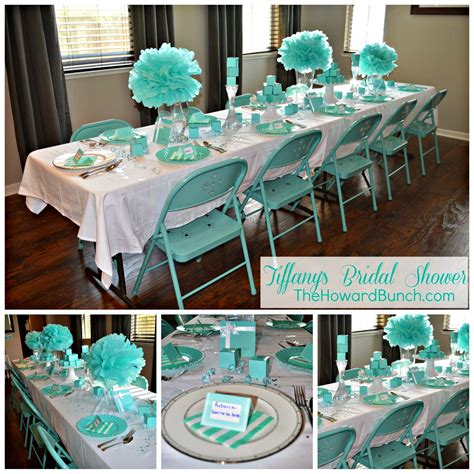 bridal shower table decorations the howard bunch a breakfast at tiffany s bridal shower