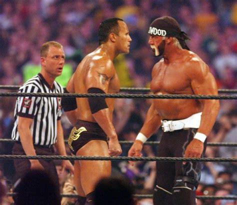 dwayne the rock johnson vs hulk hogan hulk hogan 2002 hulk hogan and the rock a hulk s life