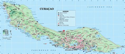 printable curacao road map bossen in gevaar caribbeanfootprint