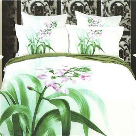 Ben 10 Duvet Set Orchid Flower Green Leaf Design 100 Cotton Bed Linen