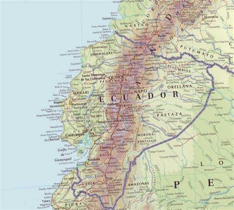 printable road map of ecuador image gallery large map of ecuador
