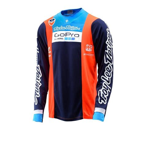 Jersey Sepeda Tld Ls troy designs 2016 limited edition team gopro se jersey orange navy available at motocross