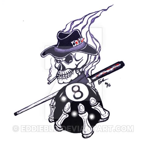 eight ball tattoo designs 8 skull design 2 by eddieblz on deviantart