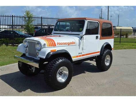 jeep cj renegade for sale 1981 jeep cj7 for sale classiccars cc 1052070